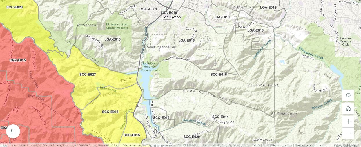 Evacuation Area is the Orange Color - Yellow is the evacuation warning area